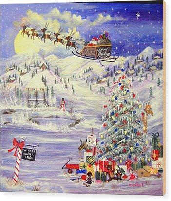 Winter Wonder Land Wood Print by Janna Columbus