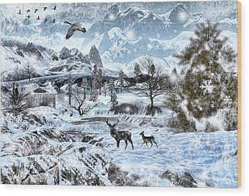 Winter Wonderland Wood Print by Lourry Legarde