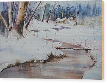 Winter Wonders Wood Print by P Anthony Visco