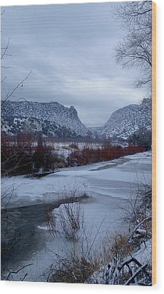 Wood Print featuring the photograph Winters Day by Atom Crawford