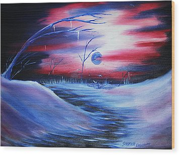 Winter's Frost Wood Print by Shadrach Ensor