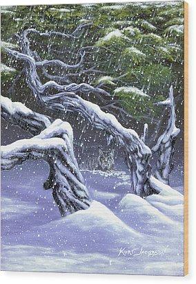 Winters Ghost Wood Print by Kurt Jacobson