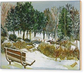 Winter's Invitation Wood Print