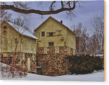 Wood Print featuring the photograph Winters Mill by Rachel Cohen