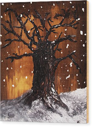 Wintertree 3 Wood Print