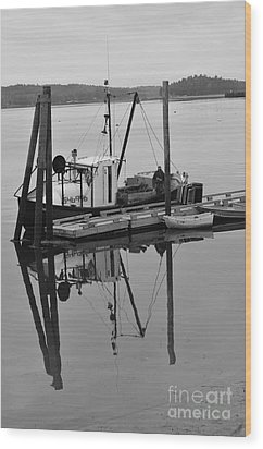 Wiscasset Reflection Wood Print by Catherine Reusch  Daley