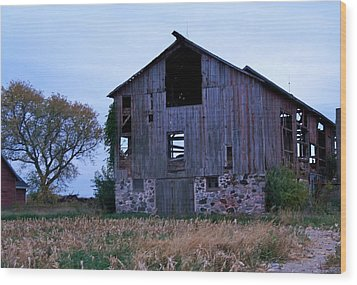 Wisconsin Barn Wood Print by Kristine Bogdanovich