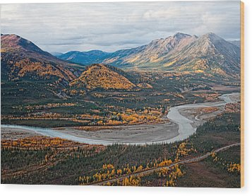 Wood Print featuring the photograph Wiseman Alaska by Gary Rose