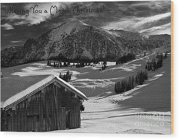 Wishing You A Merry Christmas Austria Europe Wood Print by Sabine Jacobs