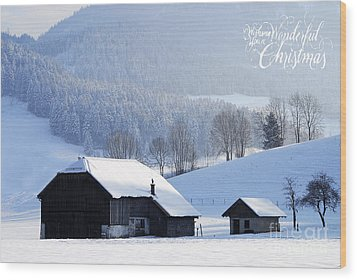 Wishing You A Wonderful Christmas Wood Print by Sabine Jacobs