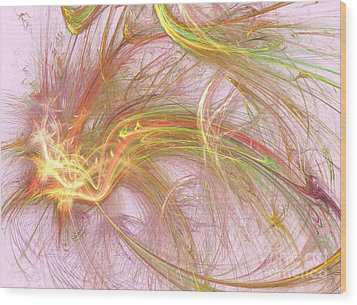 Wood Print featuring the digital art Wispy Willow by Kim Sy Ok