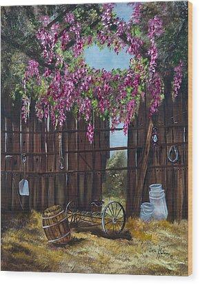 Wisteria Wood Print by Jan Holman