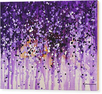 Wood Print featuring the painting Wisteria by Kume Bryant