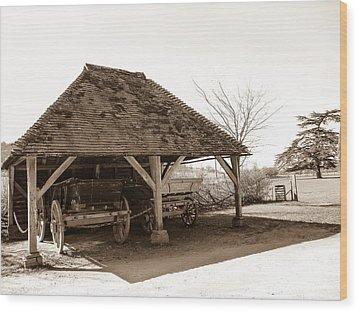 Wiston Wagon Shed Wood Print by Dawn OConnor