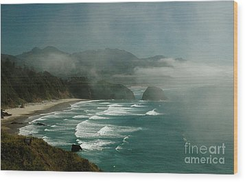 Wood Print featuring the photograph Within The Fog by Johanne Peale