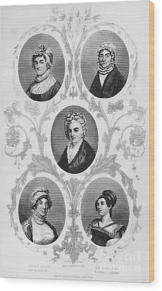 Wives Of Founding Fathers Wood Print by Granger