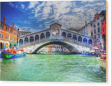 Woke Up In Venice Wood Print by Barry R Jones Jr