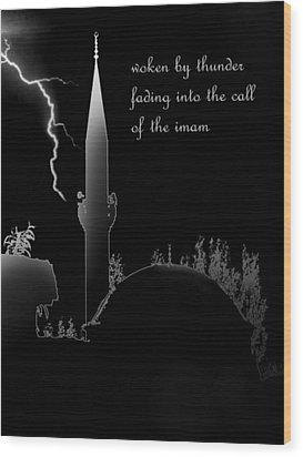 Woken By Thunder Wood Print by Steve Mangan