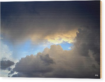 Wolf Clouds Wood Print by Diane montana Jansson