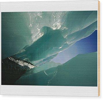 Wolf Creek Flows Through Perennial Ice Wood Print by Raymond Gehman