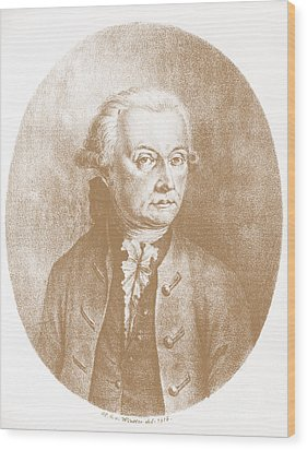 Wolfgang Amadeus Mozart, Austrian Wood Print by Photo Researchers, Inc.