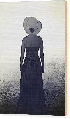 Woman At The Shore Wood Print by Joana Kruse