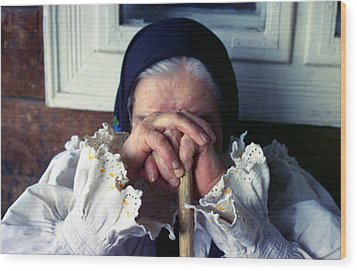 Woman From Maramures Romania Wood Print by Emanuel Tanjala