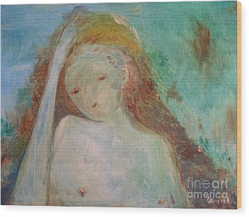 Wood Print featuring the painting Woman Of Sorrows by Laurie L