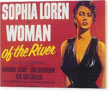 Woman Of The River, Aka La Donna Del Wood Print by Everett