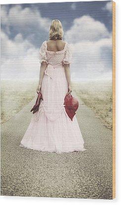 Woman On A Street Wood Print by Joana Kruse