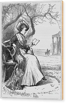 Woman Reading, 1876 Wood Print by Granger