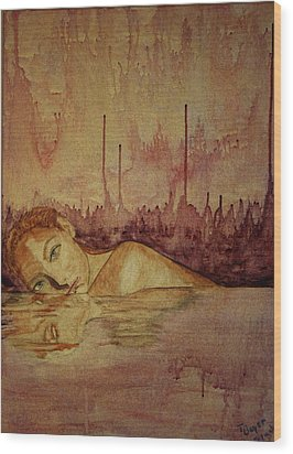 Woman Wood Print by Teresa Beyer