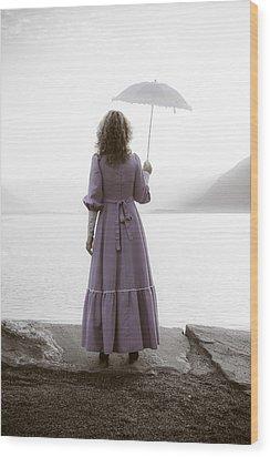 Woman With Parasol Wood Print by Joana Kruse