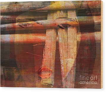 Woman Without Family - Femme Sans Famille Wood Print by Fania Simon