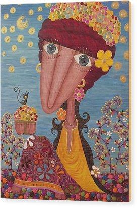 Woman#1 Wood Print by Suwannee Wannasopha