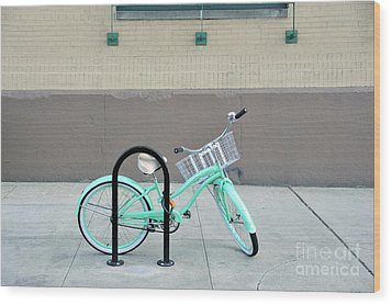 Woman's Bicycle  Wood Print by Ed Rooney