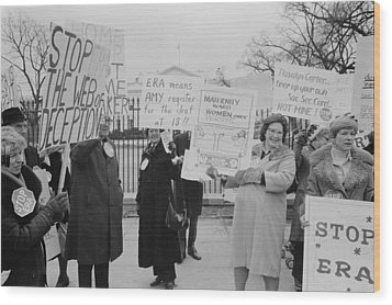 Women Demonstrating Against The Federal Wood Print by Everett