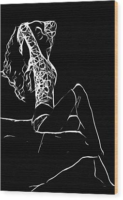 Women In Stockings Wood Print by Steve K