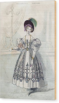 Womens Fashion, 1833 Wood Print by Granger