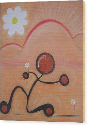Woo - To Seek The Affection Of With Intent To Romance. Wood Print by Cory Green