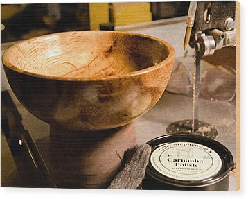 Wood Print featuring the photograph Wood Bowl by Gary Rose
