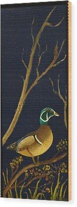 Wood Duck Wood Print by Al  Johannessen