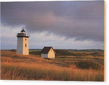 Wood End Lighthouse Landscape Wood Print by Roupen  Baker