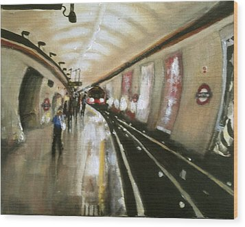 Wood Green Tube Station Wood Print by Paul Mitchell