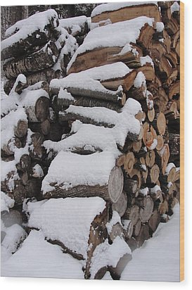Wood Print featuring the photograph Wood Pile by Tiffany Erdman