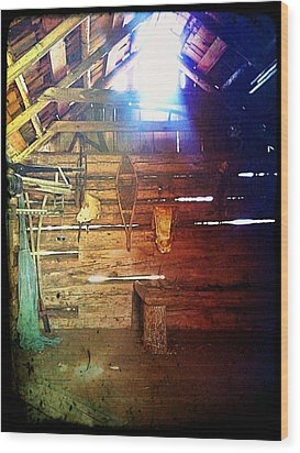 Wood Shed Wood Print by Jeff Ford