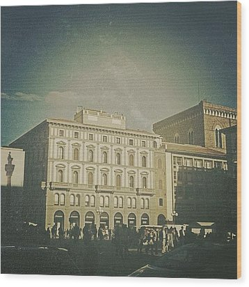 #woodcamera #florence #iphoneography Wood Print by Andrea Bigiarini