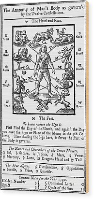 Woodcut, 1750 Wood Print by Science Source