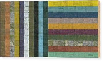 Wooden Abstract Vl  Wood Print by Michelle Calkins