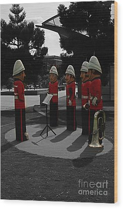 Wood Print featuring the photograph Wooden Bandsmen by Blair Stuart
